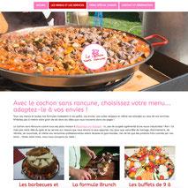 Dans le 1000 Communication - Agence web et design en Loir-et-Cher - Création du site web responsive design du traiteur Le Cochon Sans Rancune en Sologne
