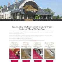Dans le 1000 Communication - Agence web et design en Loir-et-Cher - Création du site web responsive design des chambres d'hôtes Le Champ du Pré en Sologne