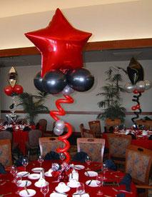 globos centro mesa 15 años