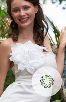 Ansteckblume für die Braut