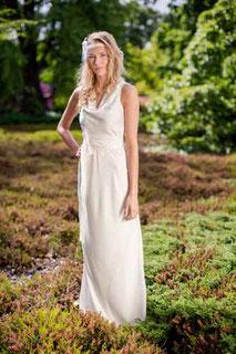 schlichte Hochzeitskleider aus Baumwolle