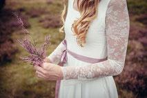 Spitzen Brautkleid mit Ärmel