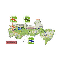 Skizze der Projektregion entlang des Möhnetalradweges