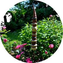 Gartenstele aus Keramik Selbstgemacht