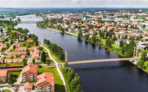 Skellefteå stadshus och stadspark