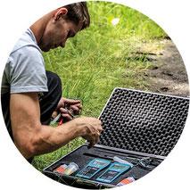Messgerät zur Ermittlung des Bodensalzgehalts