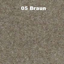 Bassabsorber Filz Sitzhocker Pouf - Braun