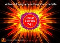 SOLUCIÓN INMEDIATA. CÓDIGO SAGRADO DE ACTIVACIÓN 741 - AGESTA - ACTIVA LA ENERGÍA DE LA SOLUCIÓN INMEDIATA - AFIRMACIONES PODEROSAS- PROSPERIDAD UNIVERSAL
