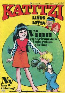 Katitzi Comic Nr. 2 von 1975 mit 2. Gewinnspiel