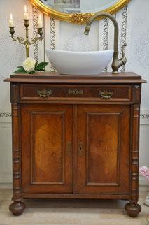 Waschtisch antik mit Waschbecken