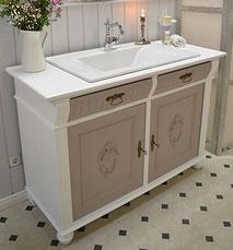 Waschtisch Jugendstil mit Einlassbecken