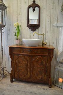 Waschtisch-Kommode antik dunkel