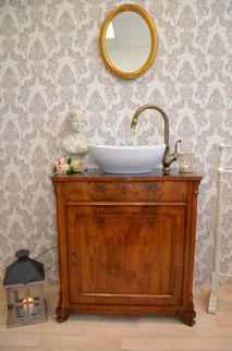 Antiker Biedermeier Waschtisch