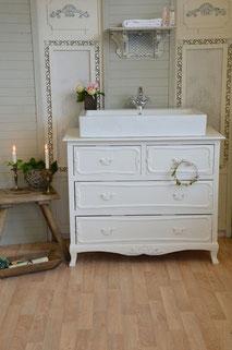 Waschtisch-Kommode in weiß