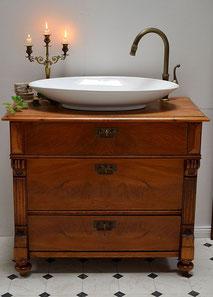 Waschtisch Holz-Antik