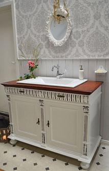 Waschtisch Landhausstil mit Einlassbecken