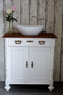 Waschtisch antik in weiß