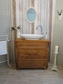 Badmöbel-Waschtisch Massivholz