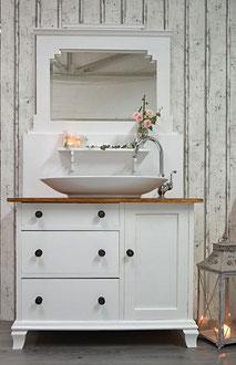 Waschtisch-Kommode mit Spiegelaufsatz