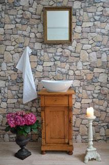 Gäste-Waschtisch aus Massivholz