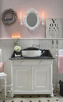 Waschtisch Marmorplatte in schwarz