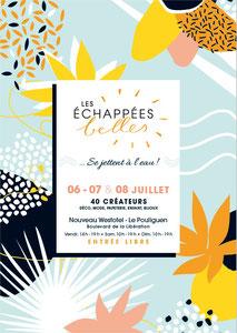 Exposition au salon Les Echappées Belles au Westhotel  Le Pouliguen en juillet 2018