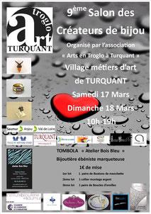Exposition au Salon des créateurs de bijoux du village troglodytique de Turquant