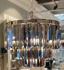 6 lichts hanglamp met echt kristal