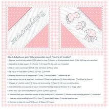 Servetten Babyshower roze 33x33cm 20 stuks € 3,25