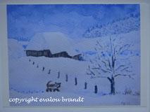 026 Schneehof mit Katze