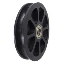 Cable Pulley Ø 100 mm for ropes up to Ø 9 mm with double ball bearing