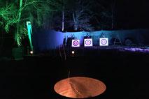 Nachtbogenschießen, Bogenschießen, Bogenschiessen, Nachtbogenschiessen, Bogenschießen für Firmen, teamevent.de, Teamevent, Firmenevent, Betriebsausflug, Schnurstracks, Teambuilding