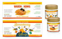 Etiketten-hans-honig-grafik-thielen-logodesign-webdesign-grafikdesign-bilddesign