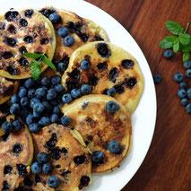 Kerstins Keto, glutenfreie Blaubeerpfannkuchen