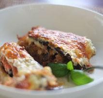 Kerstins Keto, Auberginenauflauf mit Mozzarella