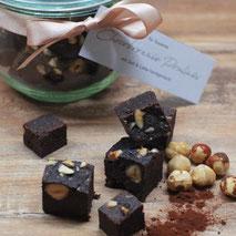 Kerstins Keto, Schokoladen Brownie Pralines, glutenfrei