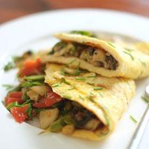 Kerstins Keto, Omelette mit Gemüse aus der Keto Küche