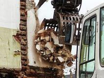 Abriss eines Gebäudes aus Hamburg Mitte.