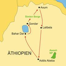 Äthiopien - Rundreise ab/bis Addis Abeba