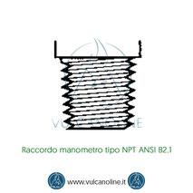 Raccordo manometro tipo NPT ANSI B2.1