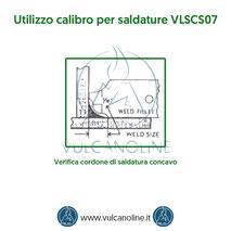 Calibro per saldature - Verifica cordone di saldatura concavo
