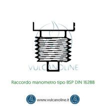 Raccordo manometro tipo BSP DIN 16288
