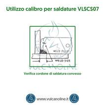 Calibro per saldature - Verifica cordone di saldatura convesso