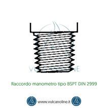 Raccordo manometro tipo BSPT DIN 2999