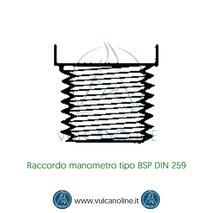 Raccordo manometro tipo BSP DIN 259