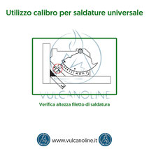 Calibro per saldature universale - Verifica altezza filetto di saldatura