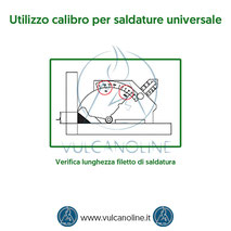 Calibro per saldature universale - Verifica lunghezza filetto di saldatura