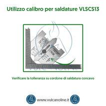 Calibro per saldature - Verificare la tolleranza su cordone di saldatura concavo