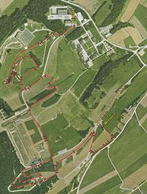 Streckenplan Chamblon