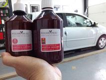 Polijstbehandeling van de lak voor jonge auto's met weinig swirls